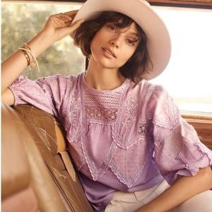 NWT Anthropologie Lace Blouse- XL